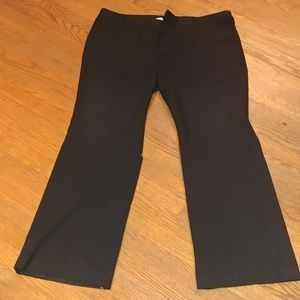 GAP Black Trousers with Stretch Straight Fit 18 R